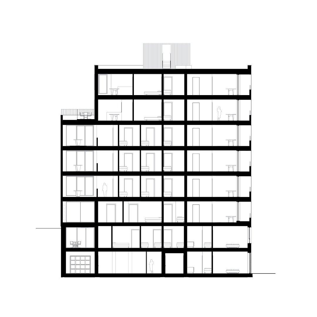 Menslievendheid, collectieve woningen, Brussel-2129344110