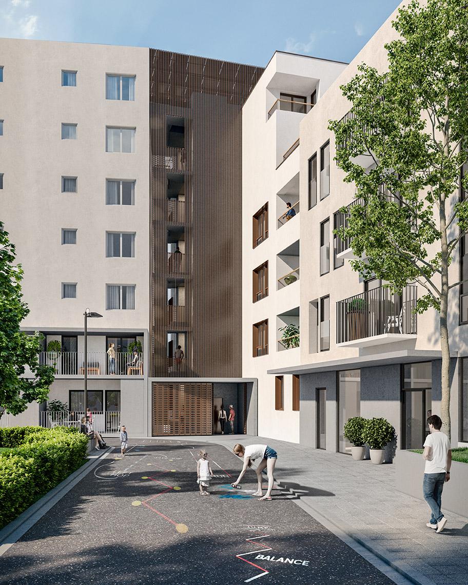 Menslievendheid, collectieve woningen, Brussel-806854561